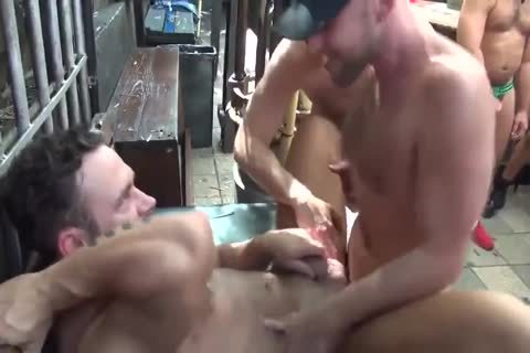 MusclePup Logan Moore acquires group banged Barebacked fuck