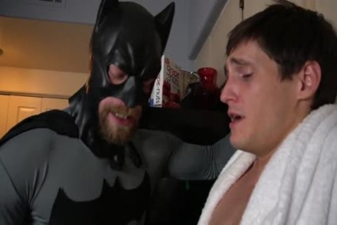 Batman gets Villain To Talk With blowjob And Tickling