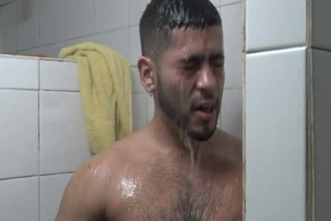 Hung Latino nailed In Gym Shower