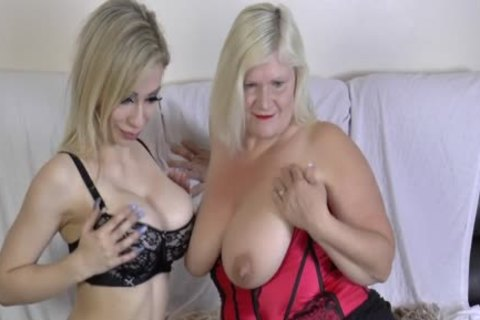 lesbian Gran Eats Out And dildos love tunnel