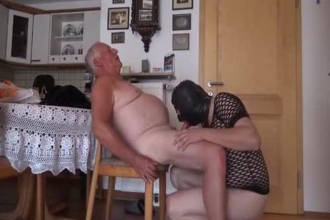 Super ravishing grandad And Masked Unusual lad suck And poke On