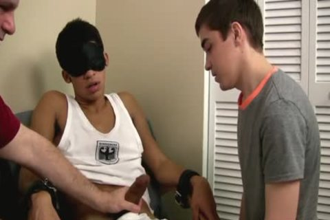 gay teen First Time engulfing A Restrained Straight thick wang