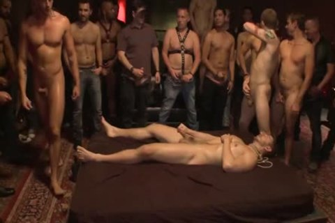 tied Up And banged In Front Of 100 Excited Males