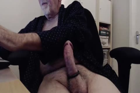 hairy Gramps jerk off And cum Show