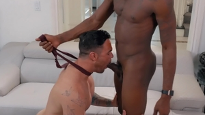 Noir Male: Beau Reed in company with Deep Dic blowjob cum