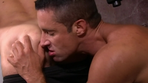 Icon Male - Hairy Max Sargent playing with big dick Nick Capra