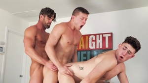 HotHouse.com: Ryan Rose & Wess Russel bareback fucked anal
