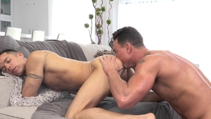 FalconStudios - Steven Lee in jeans with Jackson Cooper