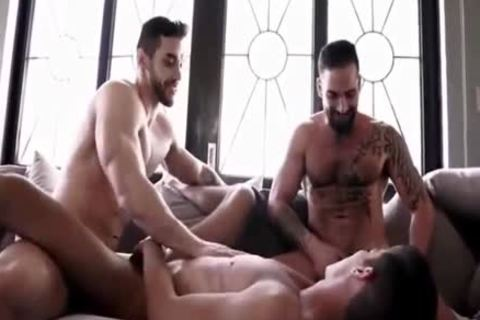 young trio With big penises