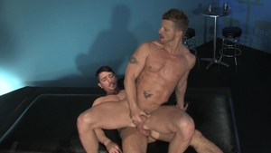 RagingStallion: Jimmy Durano giving head for balls in a bar