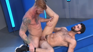 Raging Stallion: Tattooed & hairy Tegan Zayne rimming