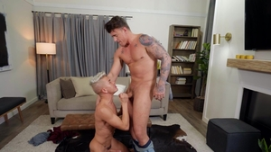 Drill My Hole: Twink boy JJ Knight beside Andy Taylor cumshot
