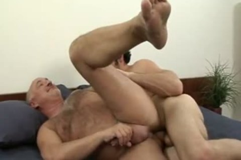 old man loves To Ride That bare College cock